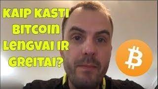 kaip kasti bitcoin