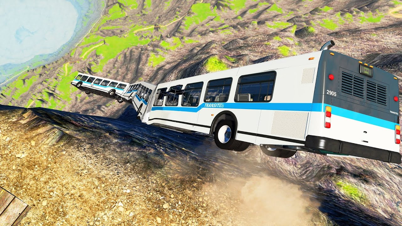 Jumping Crashes&Deadly Fall from Cliff - Beamng drive Leap of Death