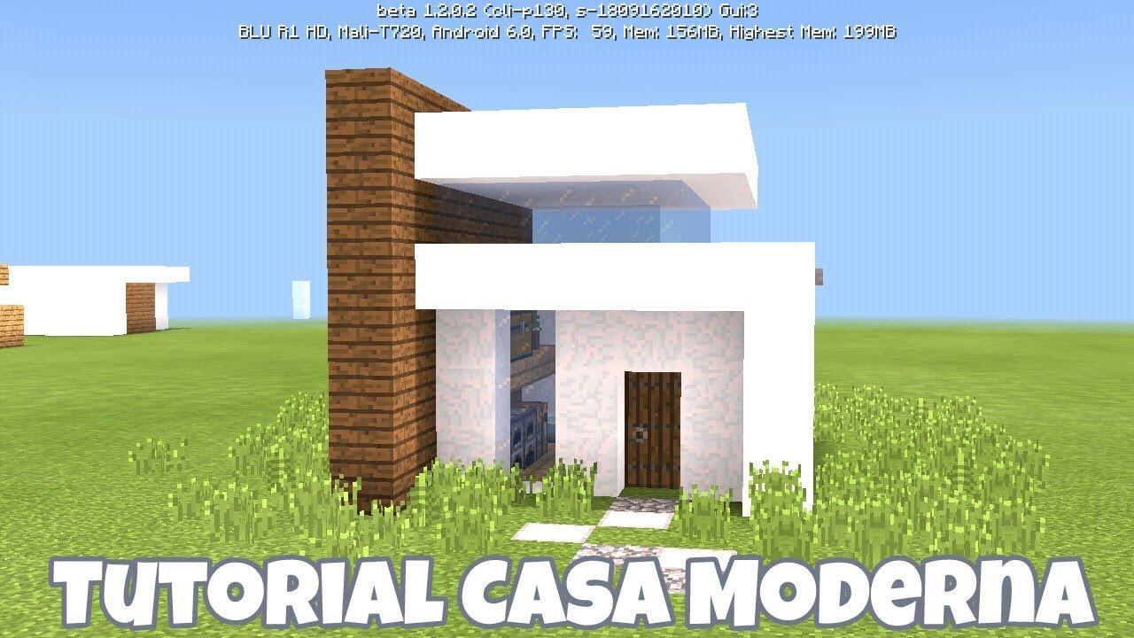 Como hacer una caba a moderna facil y bonita minecraft youtube for Casa moderna y pequena en minecraft