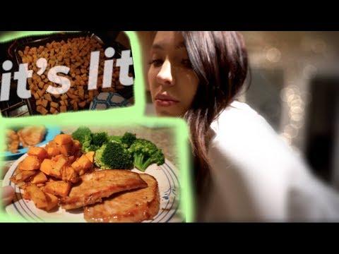 EASY DINNER | PORK CHOPS & SWEET POTATOES