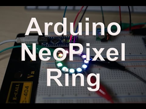 Arduino NeoPixel Ring - YouTube