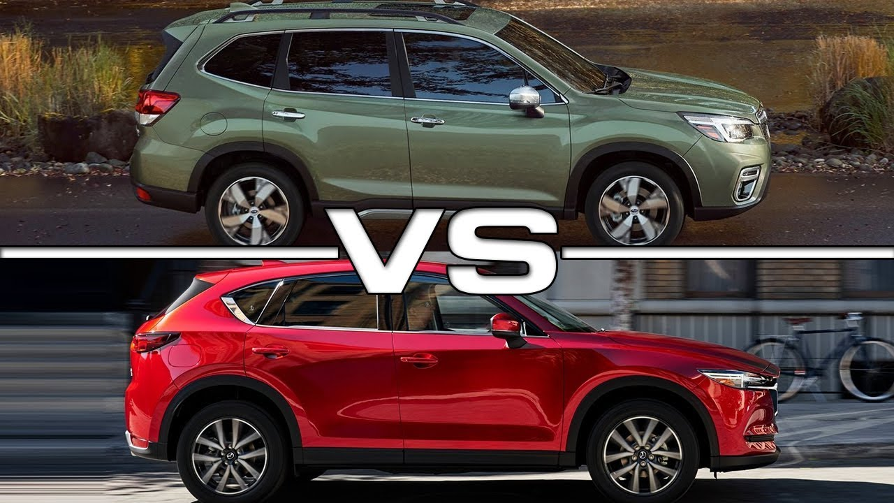 Subaru Outback Vs Forester >> 2019 Subaru Forester vs 2018 Mazda CX-5 - YouTube