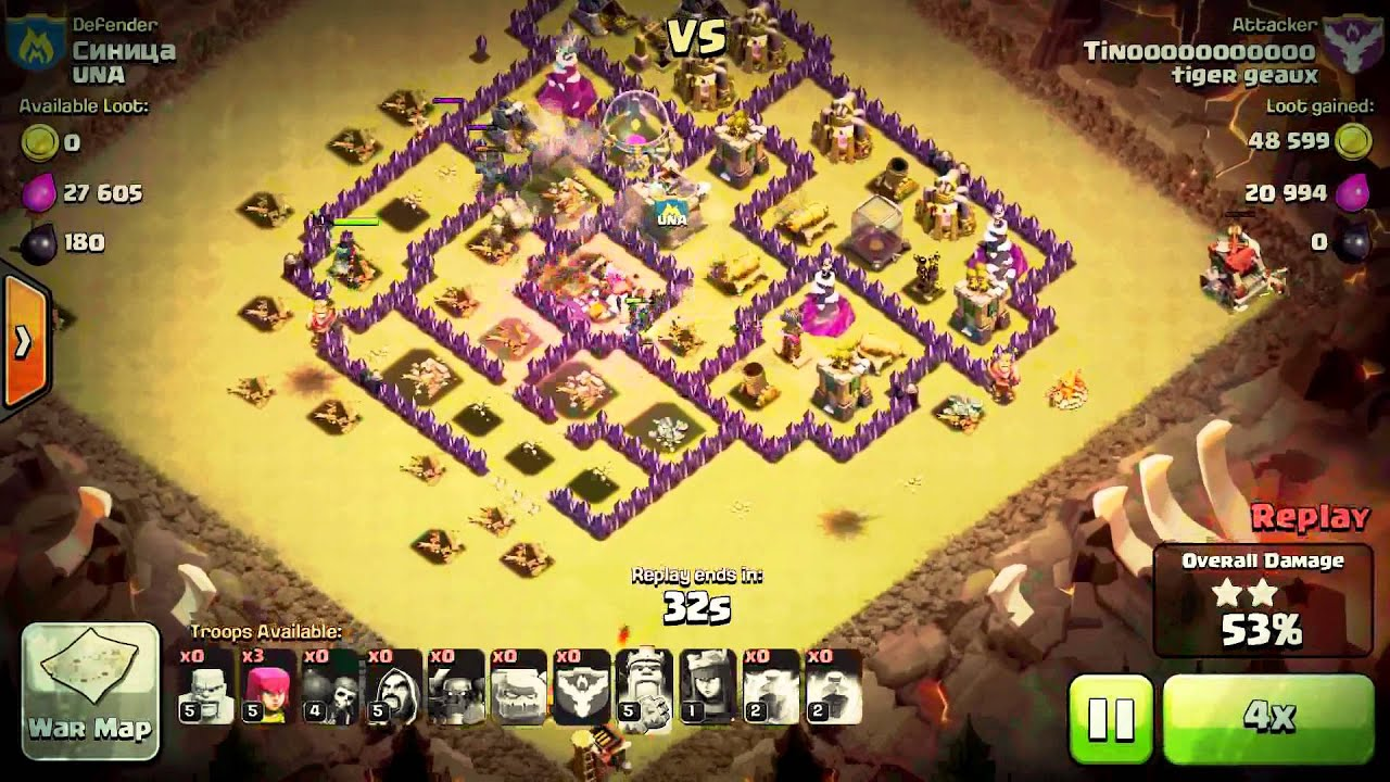 Coc war attack 4 youtube