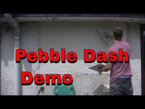 HOW I PATCH DRY DASH RENDER,ROUGHCAST,PEBBLE DASH DEMO PART 2