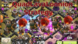 """Clash of Clans - TH10 Attack Strategy """"QuadLavaLoonion"""" 2 Star Any TH10"""