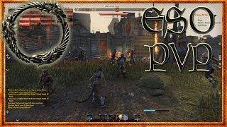 The Elder Scrolls Online - PVP Schlacht in Cyrodiil Sorcerer [TESO Beta German Gameplay, Let