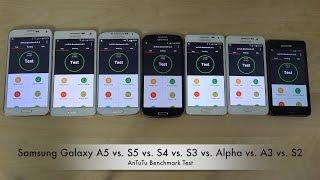 samsung galaxy a5 vs s5 vs s4 vs s3 vs alpha vs a3 vs s2 antutu benchmark test