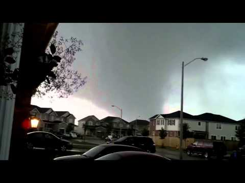 Video from the Angus / Barrie EF2 Tornado, June 17, 2014