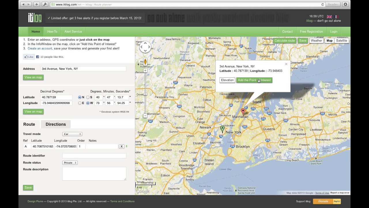 Get Google Maps Driving Directions With Itilog Multiple Stops - Google maps multiple stops
