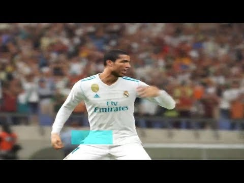 PES 2018 - Real Madrid vs Gremio full match gameplay TV camera HD60fps