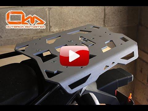 Outback Motortek BMW F800GS rear luggage rack installation instruction