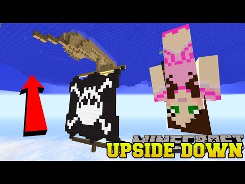 Minecraft: UPSIDE DOWN PIRATE SHIP CHALLENGE! - Upside Down Modded Survival [2] thumbnail