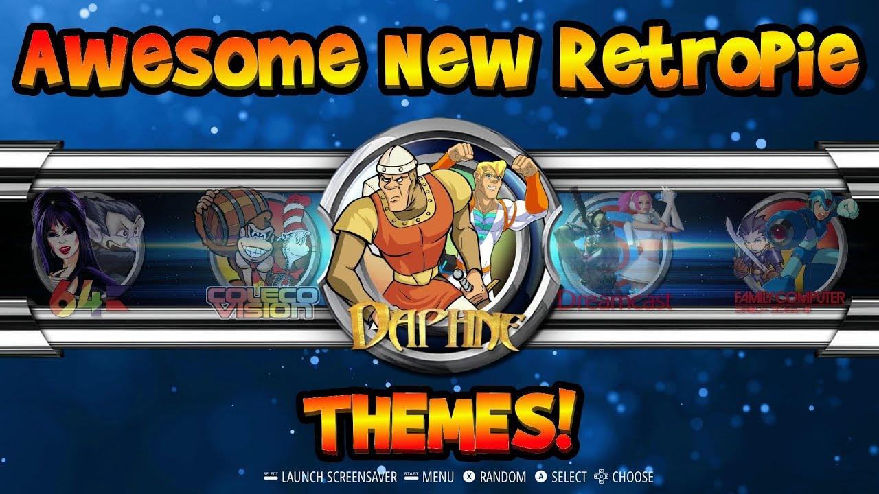 A Legend Returns! 4 New RetroPie Emulationstation Themes!