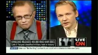 """Wikileaks founder to CNN you should be ashamed, Larry you actually should be ashamed, as well."""""""