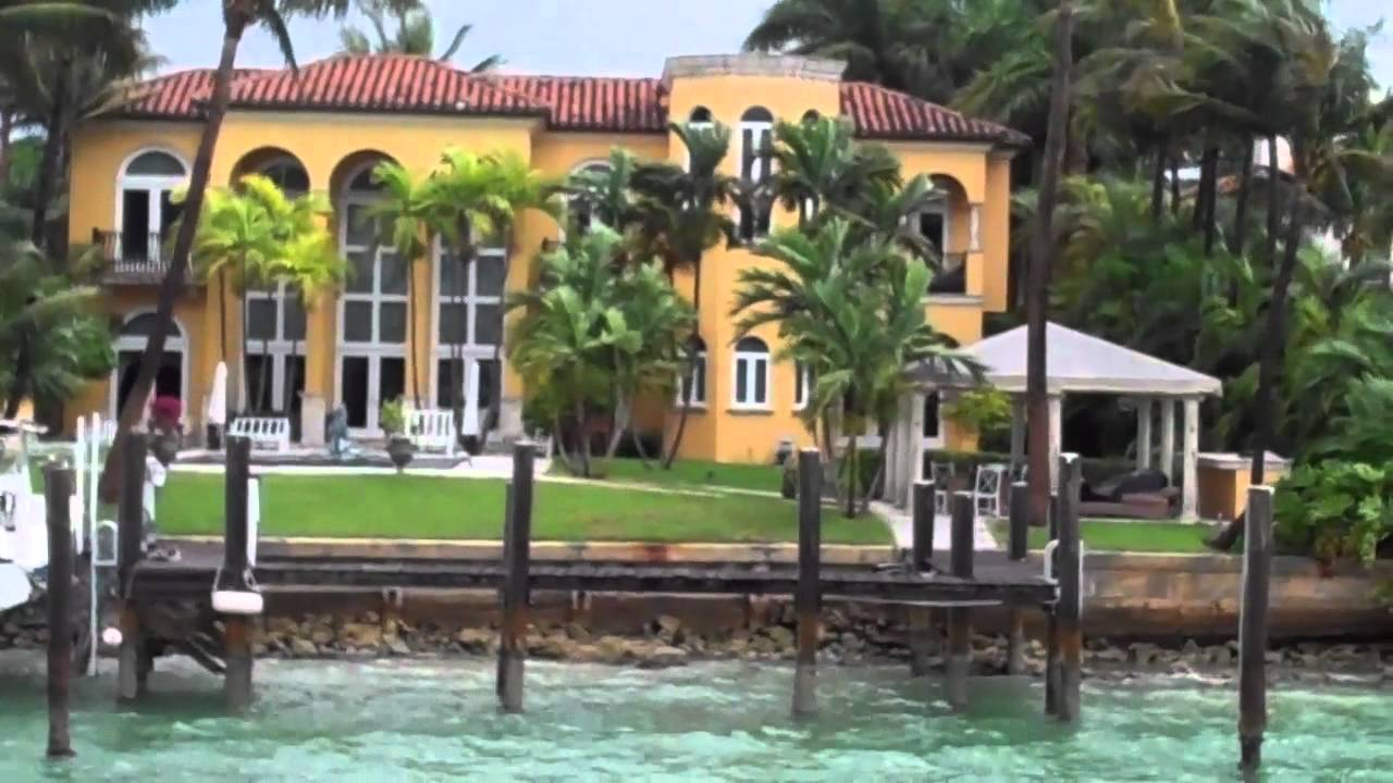 MIAMI CELEBRITY HOME BOAT TOUR    Vanilla Ice & Will Smith's fabulous  houses!
