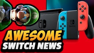 5 AWESOME SWITCH ANNOUNCEMENTS!! (New Nintendo Switch Model Revision, Joycon Colors & MORE!!)
