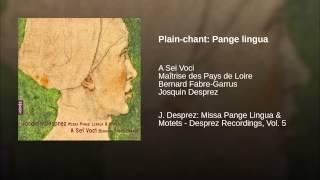 Plain-chant: Pange lingua