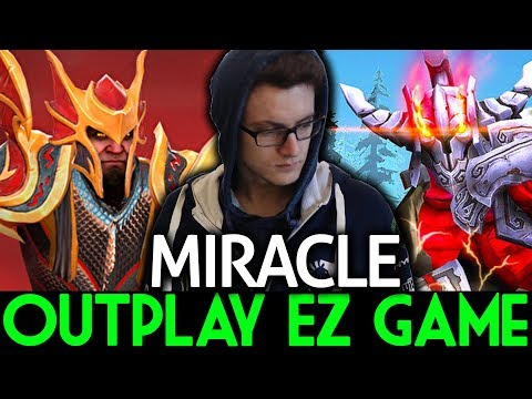 Miracle- Dota 2 [Dragon Knight] & [Sven] Outplayed ! END GAME Before 30 min