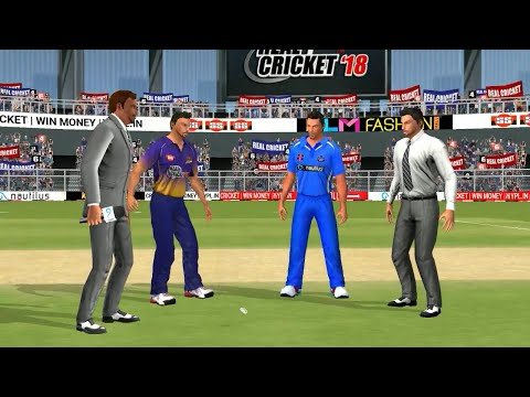 23rd May 2nd Playoffs IPL 11 Kolkata Knight RIders Vs Rajasthan Royals Real cricket 2018 Gameplay