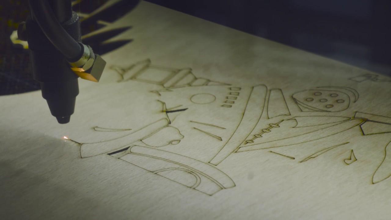 Laserul a învățat să deseneze cu din I