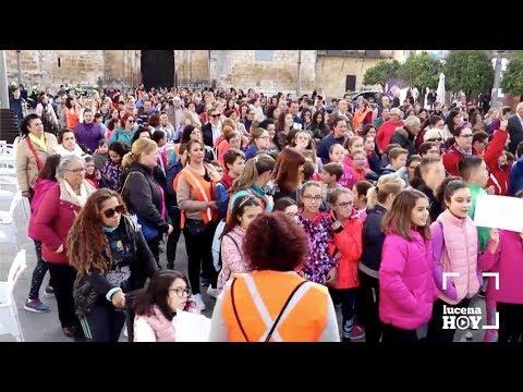 VÍDEO: Manifestación del colegio Antonio Machado para pedir una pista deportiva cubierta