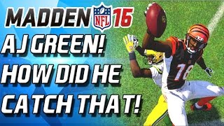 AJ GREEN IS A MONSTER! BEST WR IN MUT! - Madden 16 Ultimate Team