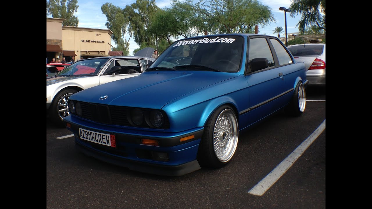 Bmw E30 3 Series In Matte Blue By Azbmwcrew Youtube