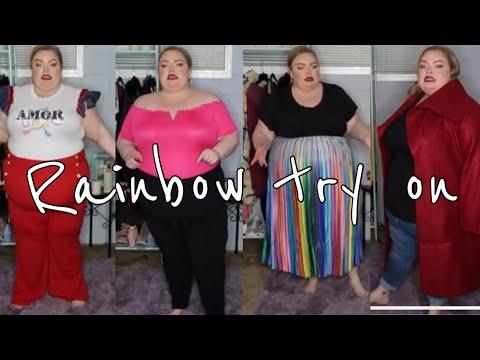 Rainbow plus size try on FAIL?!?