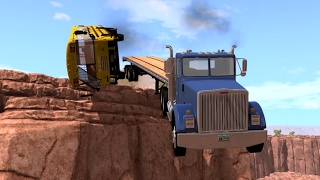 BeamNG.drive - Heavy Cargo Uphill battle