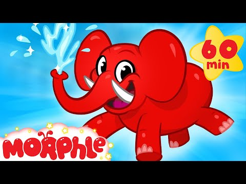 My Pet Elephant  Learn to Clean + 1 hour kids  compilation  My Magic Pet Morphle
