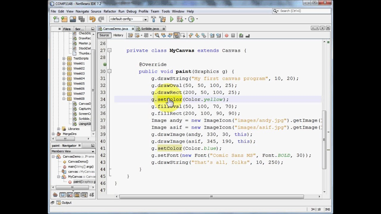 Drawing Smooth Lines In Java : Java gui drawing on a canvas youtube
