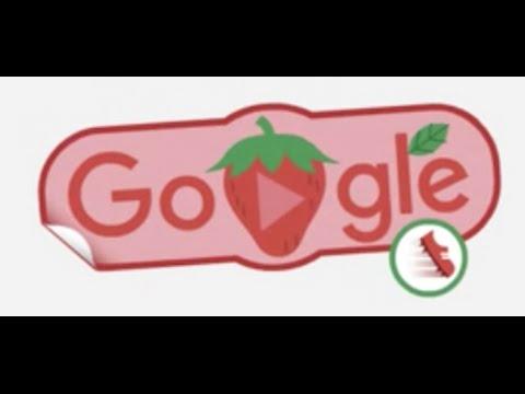 2016 Rio Olympics Google Doodle Strawberry Running Fruit Game 3 Star Walkthrough