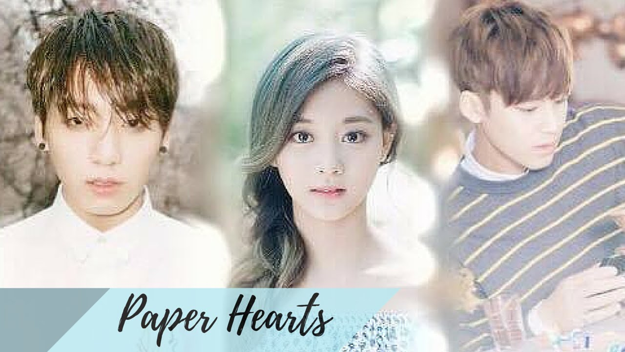 BTS Jungkook x Twice Tzuyu (feat  Seventeen Mingyu)| ♡PAPER HEARTS♡ (FMV)