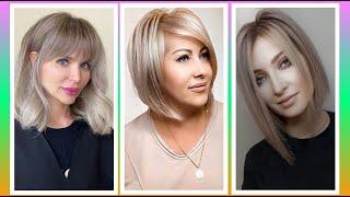Модные стрижки на средние волосы 2021