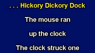 Hickory, Dickory Dock, Karaoke video with lyrics, Instrumental version