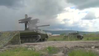 Russian battle robots in Syria.Российский боевой робот Уран 9(Russia attack ISIS - Russia vs. ISIS - Russian airtrikes in Syria - Iraq war - Syria war - Kurds - ISIS - Sinjar battle - Kobane battle - Kobani - female soldier - Arin ..., 2016-01-15T13:35:08.000Z)
