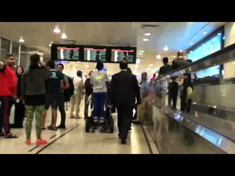 Amazing Race! Istanbul Airport's electric wheel chair service for hampered people.