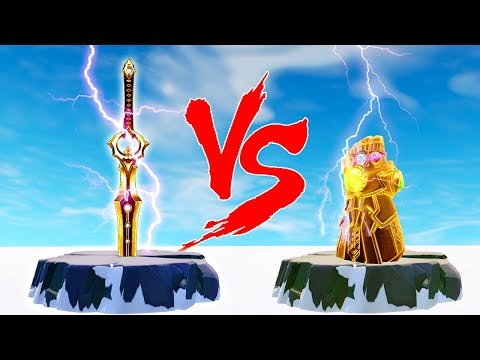 INFINITY BLADE vs INFINITY GAUNTLET(THANOS).!|Fortnite Twitch Funny Moments #282