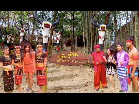 Cambodian Cultural Village in Siem Reap Province | Finding Son in law at Kroeung Village