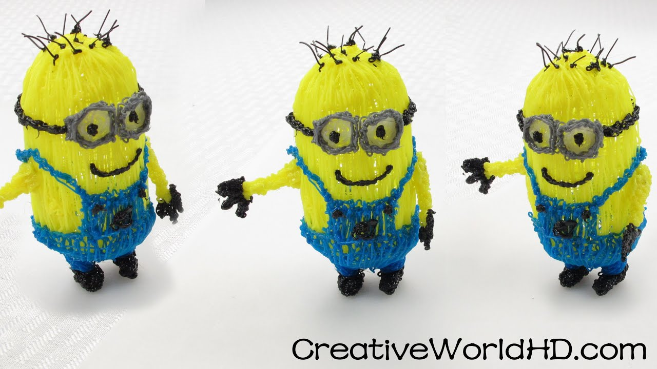 How To Make Despicable Me 3d Minions 3d Printing Pen Diy