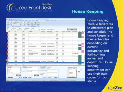 Hotel Management Software eZee FrontDesk  with reservation, accounting, booking, pms features.