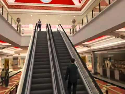 centro comercial  infografia 3d madrid