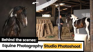 BTS Equine Photography in Studio Light   How To Photograph Horses in Studio (aka, an available barn)