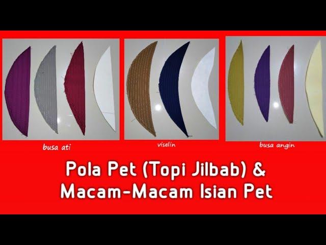 Cara Membuat Pola Pet Topi Jilbab Khimar Macam Macam Isian Pet Youtube
