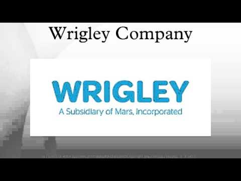 case memo of the wm wrigley jr company