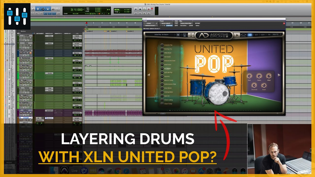 Augmenting Kick & Snare Drum with United Pop from XLN Audio