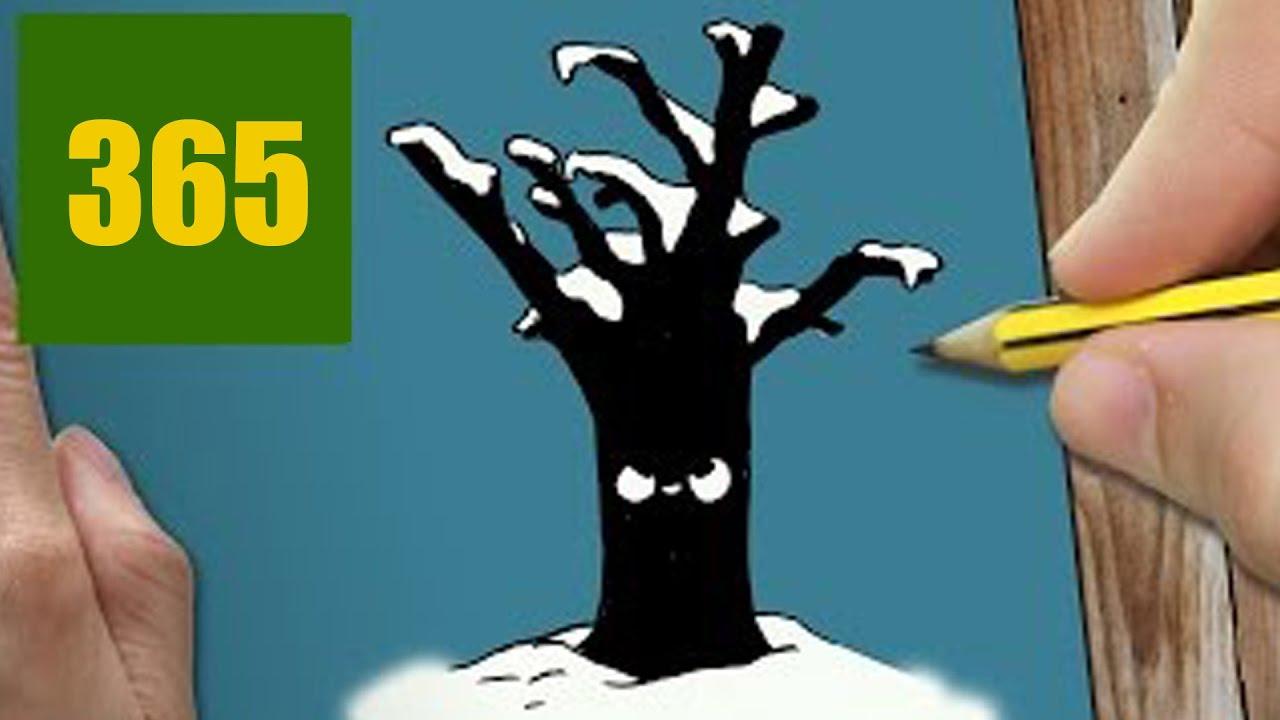 Comment dessiner arbre de no l dans kawaii tape par tape dessins kawaii facile youtube - Arbre de noel dessin ...