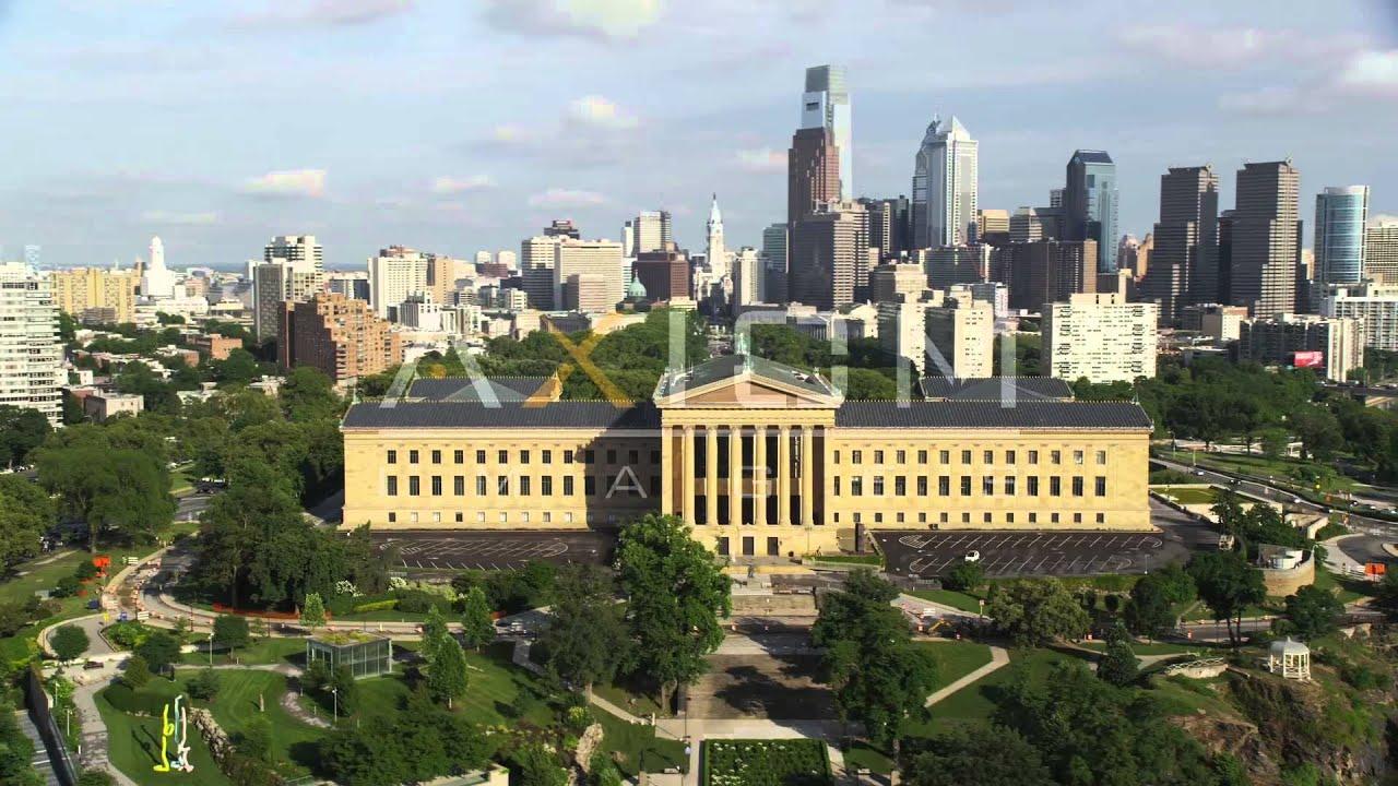 Downtown Philadelphia Museum Of Art Aerial Stock Footage Videos Ax79 065