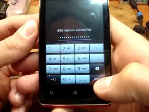 How to unlock Sony Xperia E C1504 C1505 by code