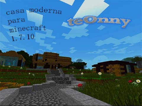 Casa moderna para minecraft 1 youtube for Casa moderna minecraft 0 10 4
